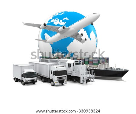 World Wide Cargo Transport - stock photo