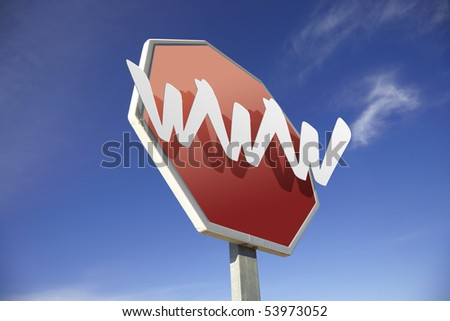 World Wide Web road sign