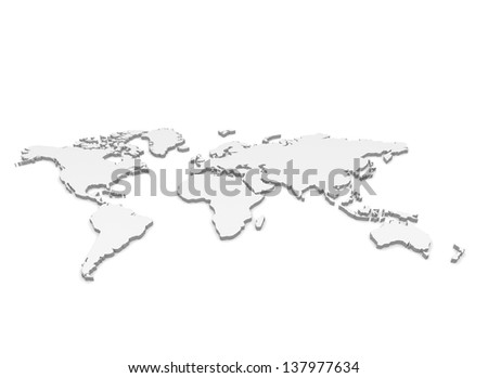 worldmap - stock photo
