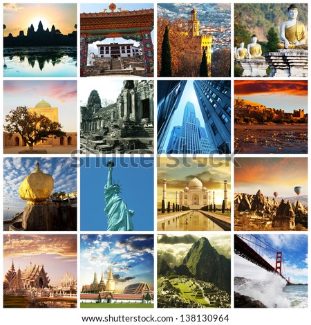 worlds famous views - stock photo