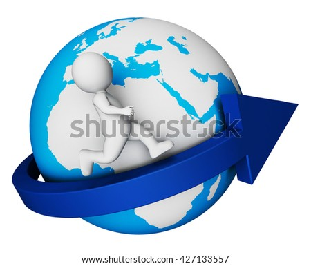 Worldwide Character Representing Globally Global And Globalisation 3d Rendering