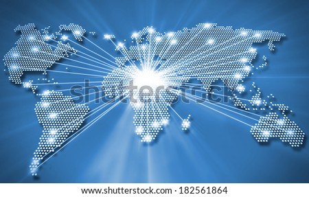 Worldwide connections - stock photo