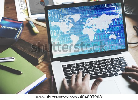 Worldwide Global Unity Social Gathering Community Concept - stock photo