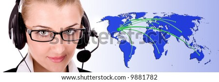 Worldwide support. - stock photo