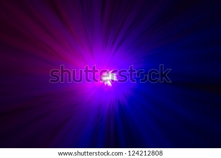 Wormhole Scientific Abstract in blue and purple