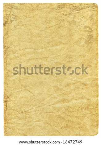 Worn antique brown paper with wrinkle pattern and creases.