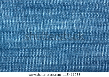 Worn Blue Denim Jeans texture, background - stock photo