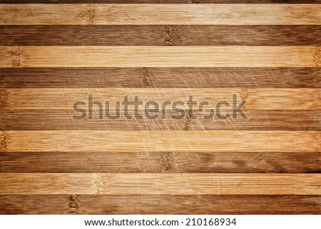 Worn butcher block cutting plate and chopping wooden board as background. Wood texture. - stock photo