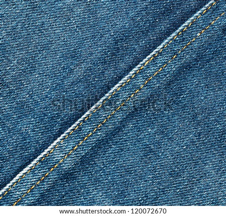 Worn denim jeans texture. Background. Close up - stock photo