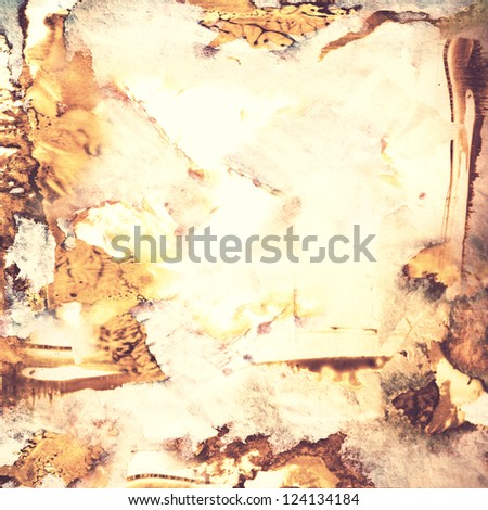 worn grungy rusty messy paper texture ; abstract background - stock photo