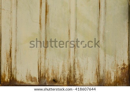Worn old metal with weathered water stains - stock photo