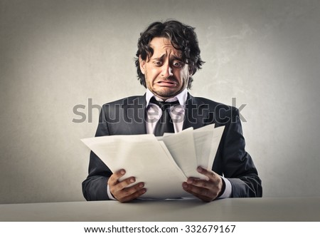 Worried businessman