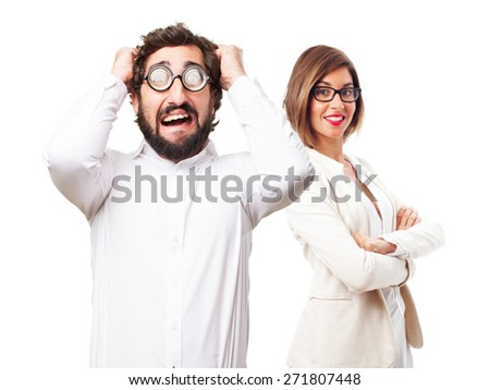 worried fool man - stock photo