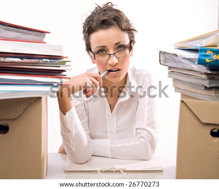 Worried secretary