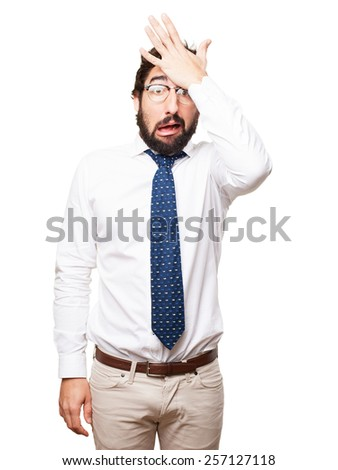 worry businessman - stock photo