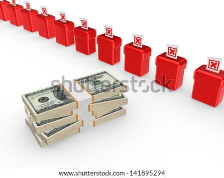 Worst investment concept.Isolated on white.3d rendered. - stock photo
