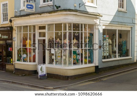 Wotton-under-Edge, England - May 10, 2018: RSPCA South Cotswolds Branch on Long Street, Charity Shop