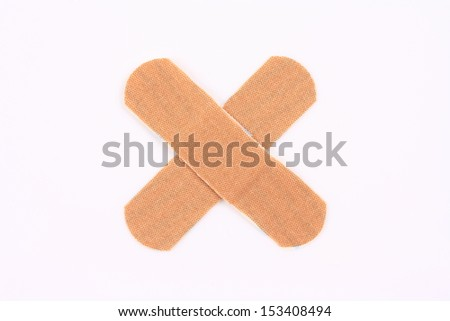 Wound paste into a cross  - stock photo