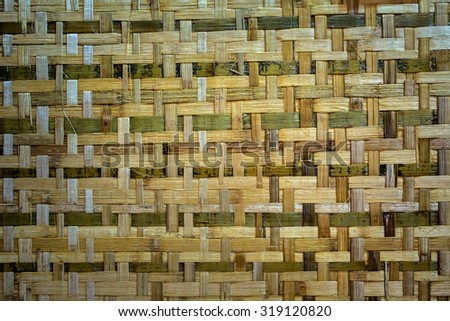 woven bamboo patterned. - stock photo