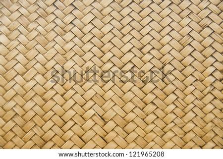 woven bamboo patterns - stock photo