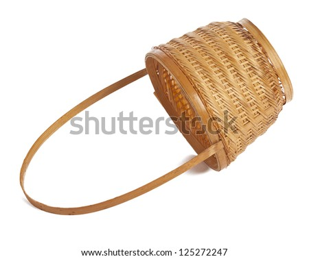 Woven basket in a white background