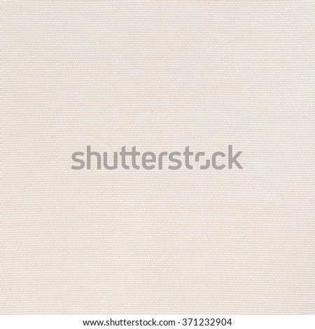 Woven cotton linen fabric textile textured backdrop in pastel light beige cream tan color tone: Flax satin cloth detail pattern wallpaper in creme beige brown toned colour: Eco friendly material - stock photo