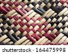 Woven flax (close up ) traditional Maori culture artwork New Zealand. - stock photo