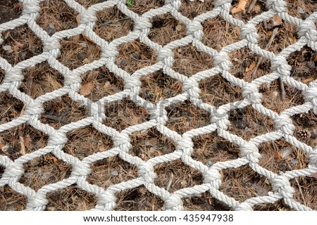 Woven net of rope background