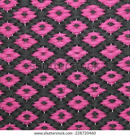 woven rug - stock photo