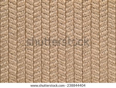 Woven Sisal & Wool Rug Background - stock photo