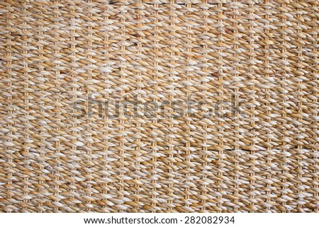 Woven straw background - stock photo