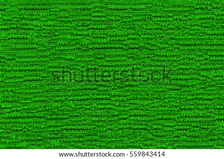 Woven synthetic fiber fabric of nylon emerald green color
