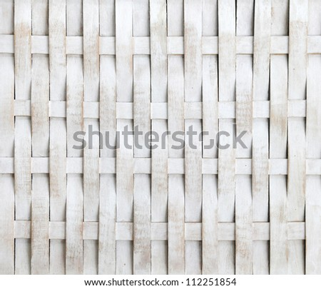 woven, wooden background - stock photo