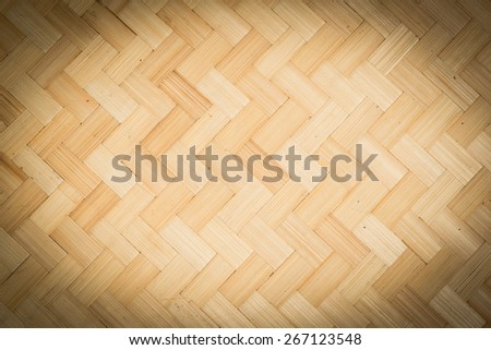 Woven wooden Basketwork Handicraft pattern background - stock photo