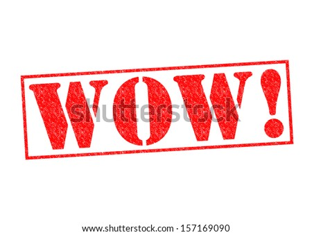 WOW! Rubber Stamp over a white background. - stock photo