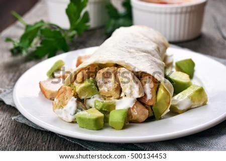 Close Taco Salad Up Stock Photos, Royalty-Free Images & Vectors ...