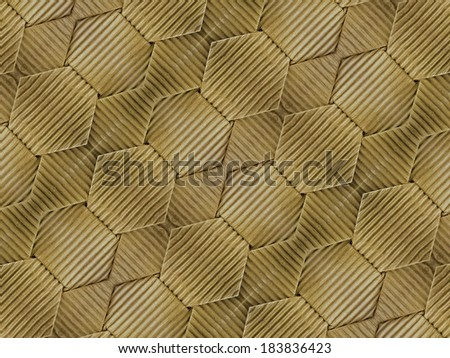 Wrapped cardboard texture manipulated pattern in yellow color.