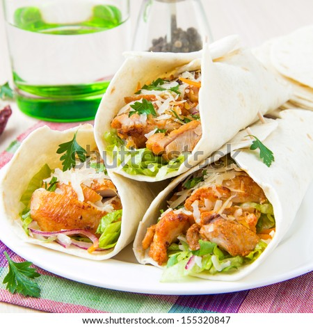 Chicken Wrap Stock Photos, Royalty-Free Images  Vectors