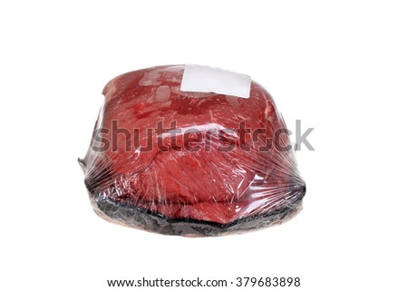wrapped outside round roast beef - stock photo