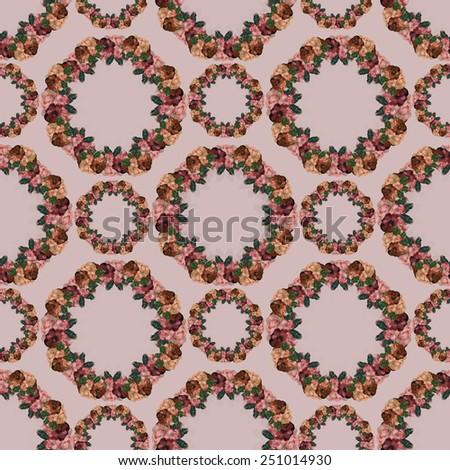 Wreath seamless pattern  - stock photo