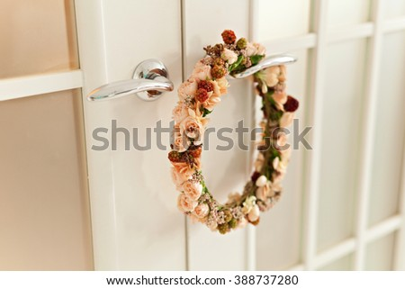 wreath with fresh flowers