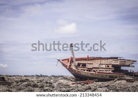 wreck - stock photo