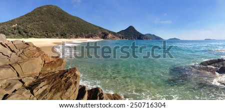 Wreck Beach in Port Stephens is part of the Tomaree National Park and can only be accessed by a walking track.
