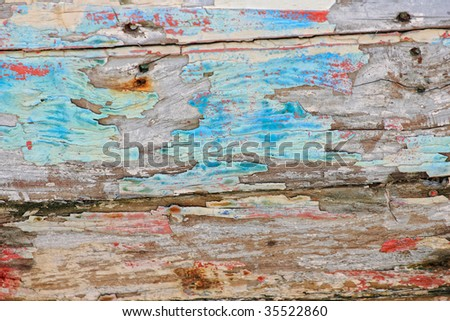 Wreck of a ship textured abstract background