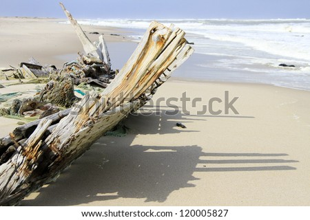 Wreck of the South West Sea. Skeleton Coast Park . Namibia