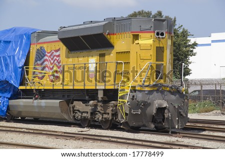 Wrecked Diesel Locomotive