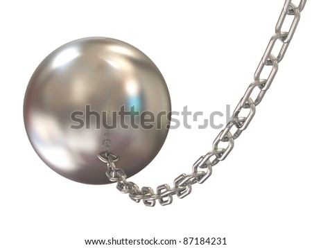 Wrecking ball on white background