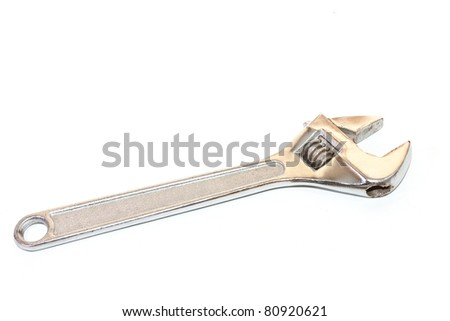 wrench on a white background - stock photo