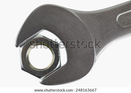 wrench with screw - tight together
