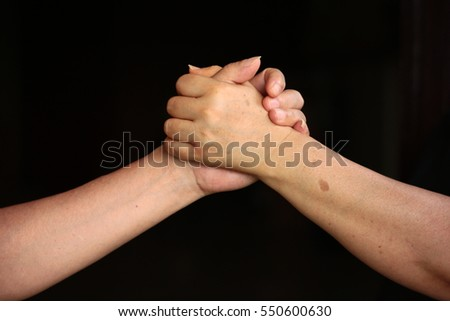 wrestle hand with dark background
